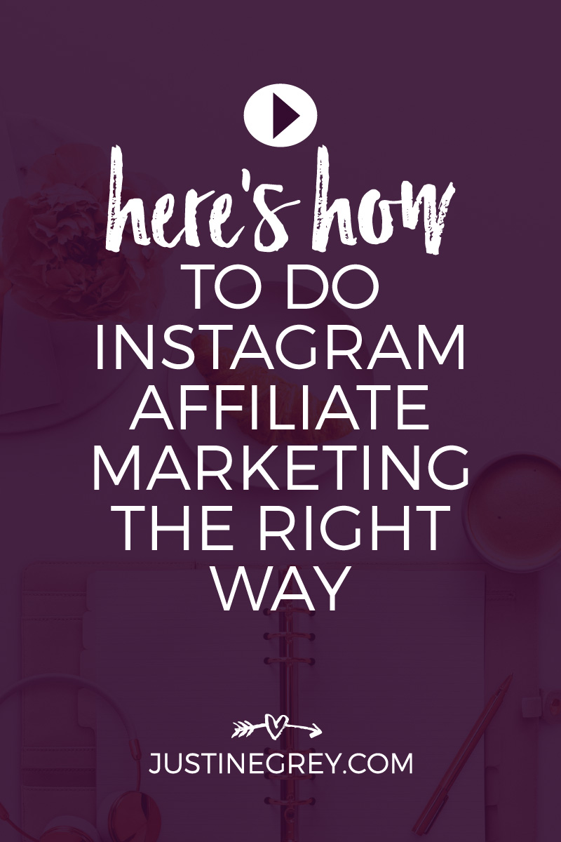 Here's how to do instagram affiliate marketing the right way